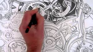 how to draw realistic detail inside a watch youtube