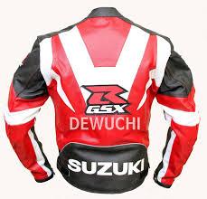white motorbike jacket suzuki motorbike stylish three color combination men u0027s leather