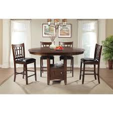 picket house dmx1005pc sam 5 piece pub dining set in cherry finish