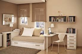 Bedroom Decorating Ideas For Teenage Guys Beige Wall Theme And Double Mocha Window Blind Connected By White