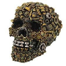 skull decor steunk mechanical skull machine screws nuts bolts