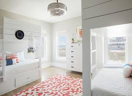 Bunk Bed Fan White Shiplap Bunk Beds With Vintage Ceiling Fan Cottage