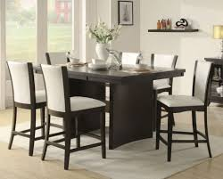 high dining room chairs dining room bar height dining table set 2