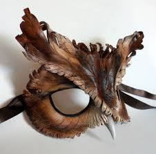 leather masquerade masks screech owl leather mask screech owl leather mask and masking