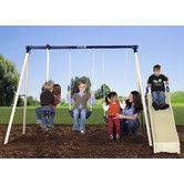 Flexible Flyer Backyard Swingin Fun Metal Swing Set Sportspower Super 8 Fun Metal Swing Set Walmart Com Aria U003c3