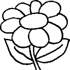 a coloring page of a flower