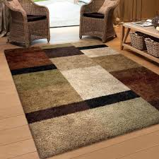 Large Modern Rug Orian Rugs Geometric Treasure Box Brown Area Rug 5 3 X 7 6