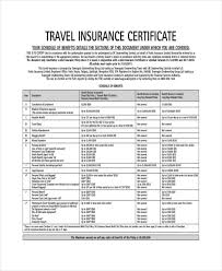 insurance certificate template u2013 10 free word pdf documents