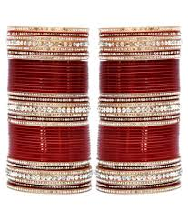 wedding chura lucky jewellery maroon bridal punjabi choora wedding chura buy