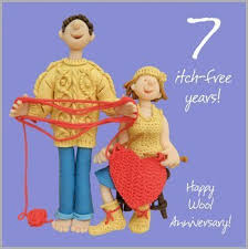 seventh anniversary gifts 7th wedding anniversary card co uk kitchen home