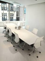 Large Conference Table White Modern Large Conference Table Ambience Doré