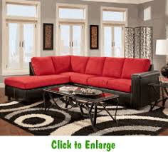 Sensations Red Brick Sectional By Affordable At Furniture - Sofa warehouse nashville