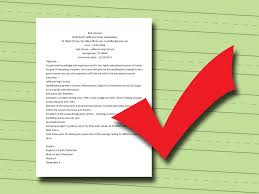 Is An Objective Needed On A Resume 3 Easy Ways To Write A College Resume With Pictures