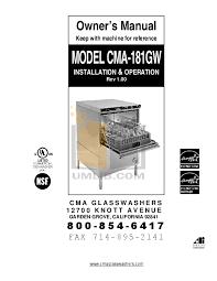 Cma 180 Dishwasher Manual Download Free Pdf For Cma Cma 180uc Dishwasher Manual