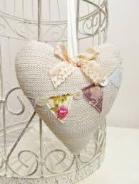 Fabric Heart Decorations Handmade Fabric Heart Garland Pink Love Heart Bunting Shabby Chic