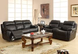 Black Recliner Sofa Set Homelegance Marille Double Reclining Sofa W Center Drop Down Cup