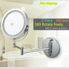 Hanging Bathroom Mirror by Aliexpress Com Buy 7 Inch Dual Arm Extend Bathroom Mirror With