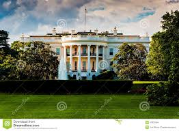 the white house on a beautiful summer day washington dc stock