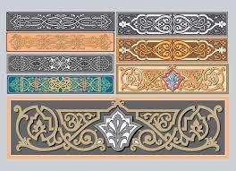 nouveau ornaments vector graphics freevector