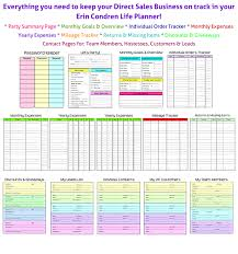 Sales Lead Tracking Spreadsheet How To Keep Up With Your Direct Sales Business Planner Addict