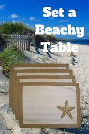 set a beach theme table with 4 cotton place mats free shipping