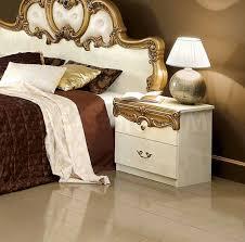 barocco bedroom set barocco bedroom set in ivory gold 3 186 00 furniture store