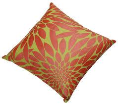 wholesale 18 x 18 u201d fuchsia u0026 yellow cotton cushion cover with