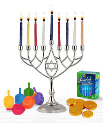 hanukkah candles for sale hanukkah menorah and dredeils chocolate candles kit