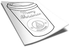 christmas coffee cup coloring page u2013 children u0027s ministry deals