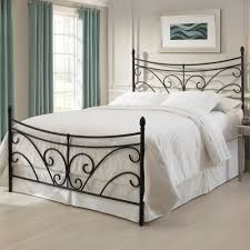 Rod Iron Headboard Iron Headboard Bed Matte Black Curving Scroll Design