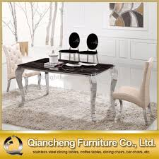 Acrylic Dining Room Chairs Chair Steel Dining Table Set Stainless Stainless Steel Dining