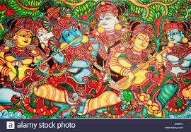 mural painting depicting rasa leela or rasa lila also called the