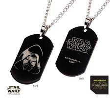 laser engraved dog tags episode 7 kylo ren laser etched dog tag pendant