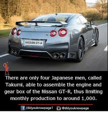 Gtr Meme - nissan gt r there are only four japanese men called takumi able to