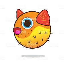 puffer fish cute cartoon stock vector art 525419869 istock