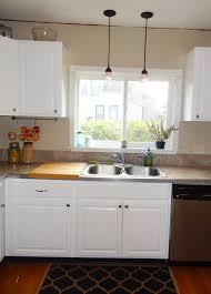 Lighting Above Kitchen Island Kitchen Mini Pendant Lights For Kitchen Island White Glass Shade