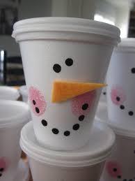 snowman cups blue cricket design