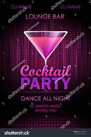 disco background cocktail party poster stock vector 212565754