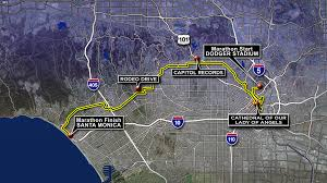 Santa Monica College Map La Marathon Olympic Marathon Closure Maps Cbs Los Angeles