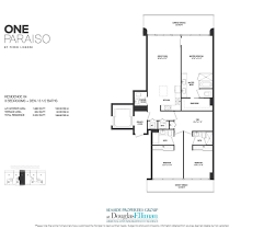one paraiso floor plans luxury waterfront condos in miami