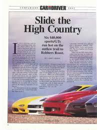 mazda car and driver porsche 968 vs chevrolet corvette vs mazda rx7 vs nissan 300 zx