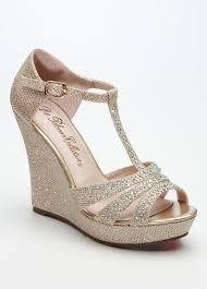 bridesmaid heels david s bridal wedding bridesmaid shoes glitter t wedge