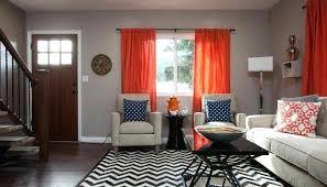 livingroom window treatments orange curtains for living room orange curtains for living room