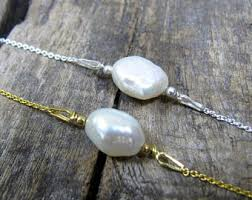 pearl bracelet with gold chain images Tiny pearl bracelet etsy jpg