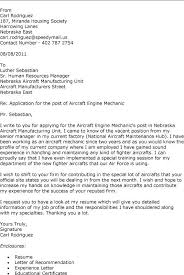 exle of resume letter resume cover letter mechanic aircraft mechanic cover letter sle h gt