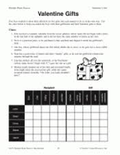 s day gifts math printable 3rd 5th grade