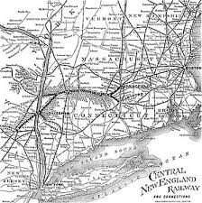 new england central railroad map central new england railway wikipedia