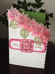 a special birthday card with embossed flowers on vellum pick a