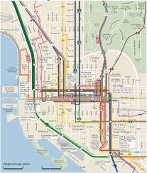 Maps San Diego A Transit Map Of Downtown San Diego 848x996 Mapporn