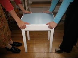 montessori practical life preliminary exercises carrying a table